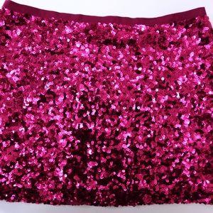 Victoria Secret - Hot Pink Sequin Skirt (Size 2)